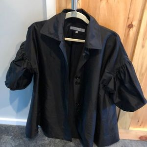Anne Klein A Line Puffy Sleeved Jacket/Coverup